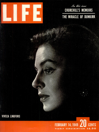Viveca Lindfors 14 Feb 1949 Copyright Life Magazine | Life Magazine BW Photo Covers 1936-1970