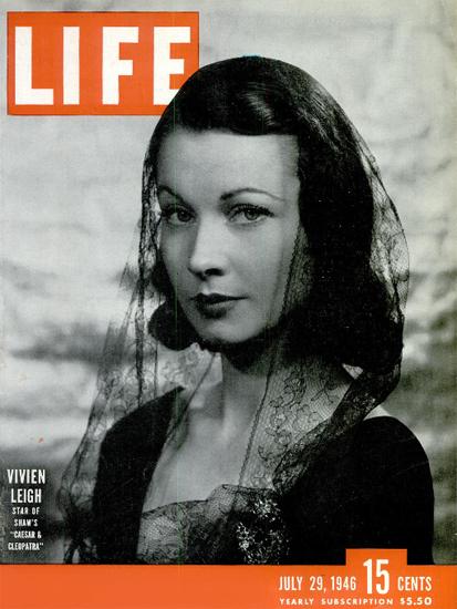 Vivien Leight Cleopatra 29 Jul 1946 Copyright Life Magazine | Life Magazine BW Photo Covers 1936-1970
