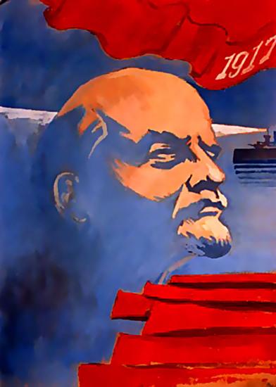 Vladimir Lenin 1917   Vintage War Propaganda Posters 1891-1970
