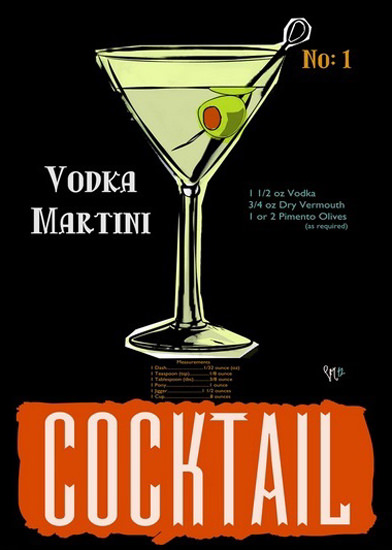 Vodka Martini Cocktail No 1 | Vintage Ad and Cover Art 1891-1970