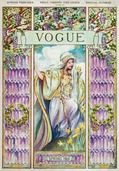 Vogue 1905-04-13 Copyright | Vogue Magazine Graphic Art Covers 1902-1958