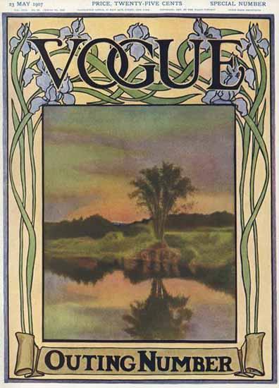 Vogue 1907-05-23 Copyright   Vogue Magazine Graphic Art Covers 1902-1958