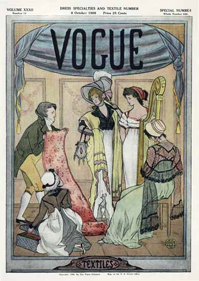 Vogue 1908-10-08 Copyright | Vogue Magazine Graphic Art Covers 1902-1958