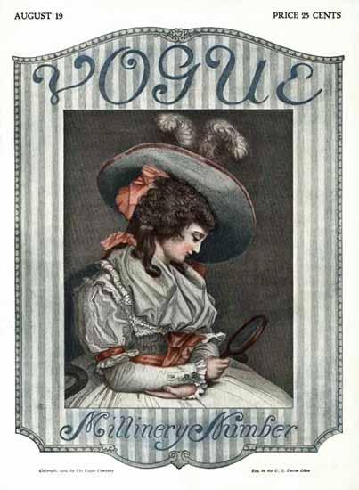 Vogue 1909-08-19 Copyright | Vogue Magazine Graphic Art Covers 1902-1958