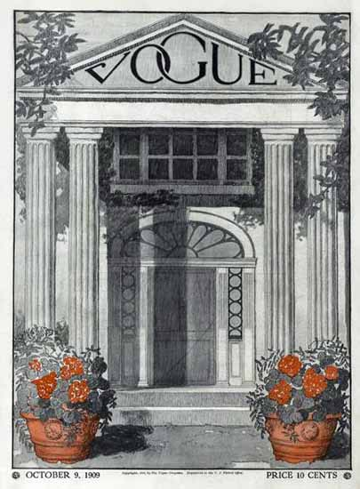 Vogue 1909-10-09 Copyright | Vogue Magazine Graphic Art Covers 1902-1958