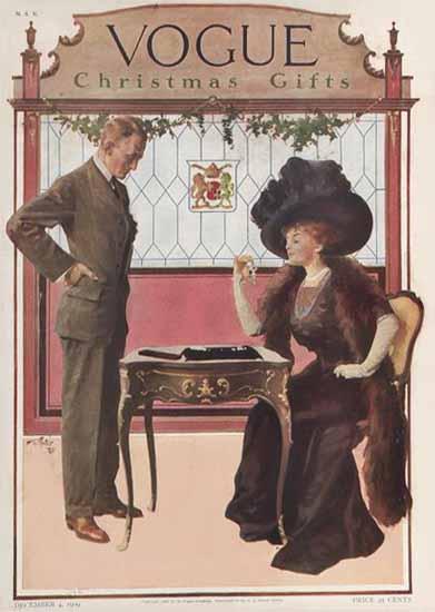 Vogue 1909-12-04 Copyright | Vogue Magazine Graphic Art Covers 1902-1958