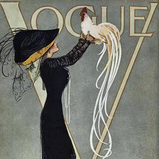 Vogue 1910-07-15 Copyright crop | Best of Vintage Cover Art 1900-1970