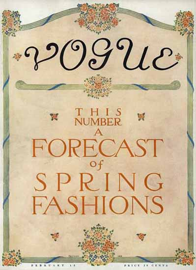 Vogue 1911-02-15 Copyright | Vogue Magazine Graphic Art Covers 1902-1958