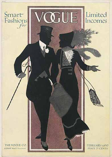 Vogue 1912-02-01 Copyright | Vogue Magazine Graphic Art Covers 1902-1958