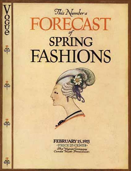 Vogue 1913-02-15 Copyright | Vogue Magazine Graphic Art Covers 1902-1958