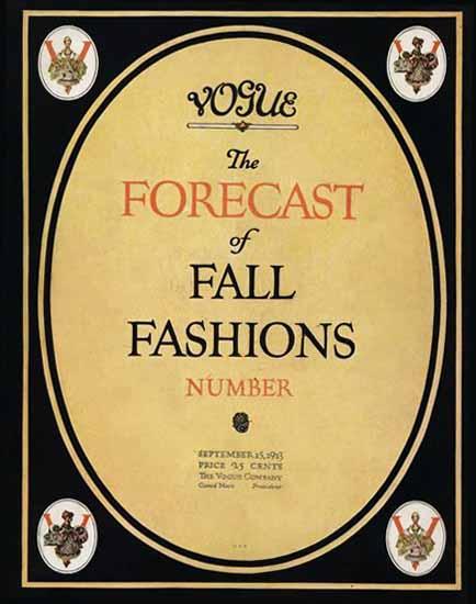 Vogue 1913-09-15 Copyright | Vogue Magazine Graphic Art Covers 1902-1958