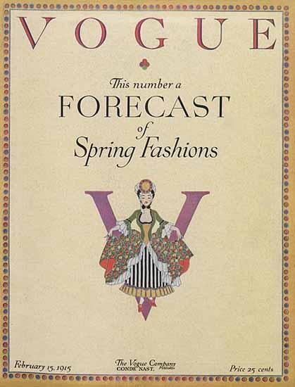 Vogue 1915-02-15 Copyright | Vogue Magazine Graphic Art Covers 1902-1958