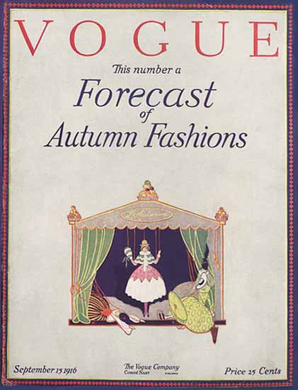 Vogue 1916-09-15 Copyright | Vogue Magazine Graphic Art Covers 1902-1958
