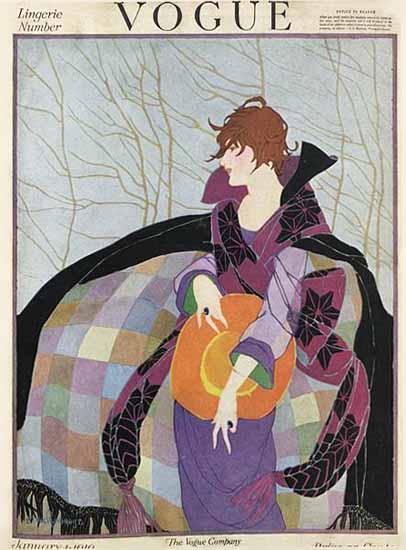 Vogue 1919-01-01 Copyright | Vogue Magazine Graphic Art Covers 1902-1958