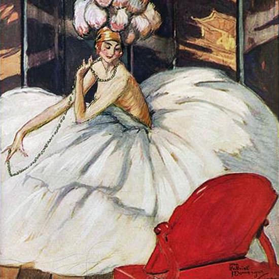 Vogue 1921-04-01 Copyright crop | Best of Vintage Cover Art 1900-1970