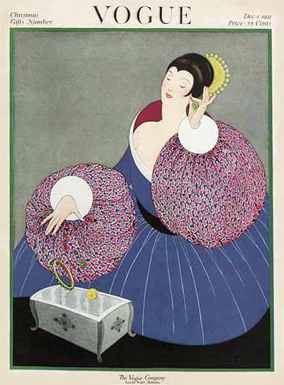 Vogue 1921-12-01 Copyright   Vogue Magazine Graphic Art Covers 1902-1958