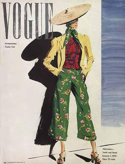 Vogue 1938-01-01 Copyright   Vogue Magazine Graphic Art Covers 1902-1958
