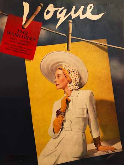Vogue 1942-05-01 Copyright   Vogue Magazine Graphic Art Covers 1902-1958