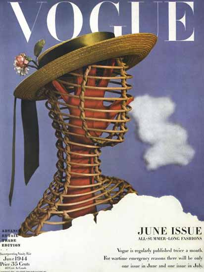 Vogue 1944-06-01 Copyright | Vogue Magazine Graphic Art Covers 1902-1958