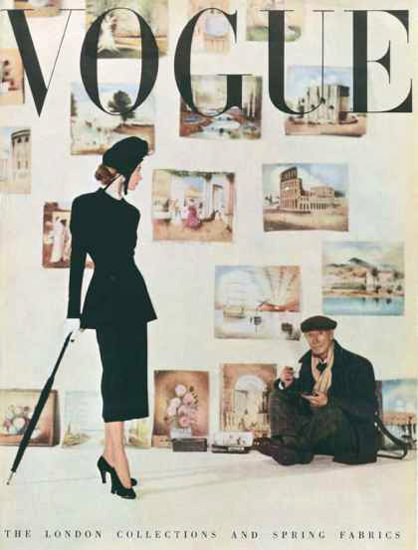 Vogue Copyright 1948 The Painter The London Collections | Sex Appeal Vintage Ads and Covers 1891-1970