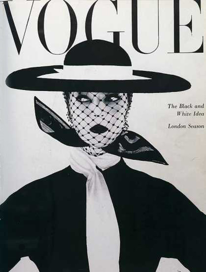 Vogue Copyright 1950 Black And White Idea London Season | Sex Appeal Vintage Ads and Covers 1891-1970