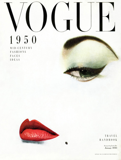 Vogue Copyright 1950 Mid-Century Fashions Faces Ideas | Sex Appeal Vintage Ads and Covers 1891-1970