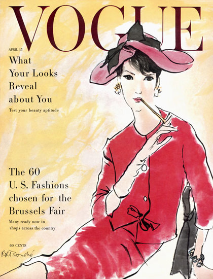 Vogue Copyright 1960 US Fashion Chosen For Brussels Fair | Sex Appeal Vintage Ads and Covers 1891-1970