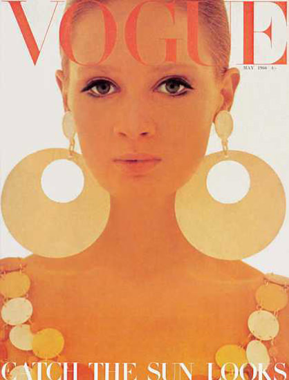 Vogue Copyright 1966 Catch The Sun Looks The Earrings | Sex Appeal Vintage Ads and Covers 1891-1970