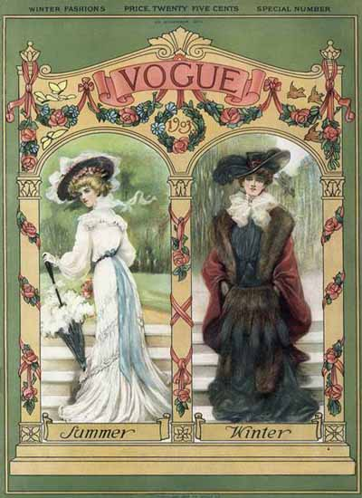 Vogue Cover 1903-11-05 Copyright | Vogue Magazine Graphic Art Covers 1902-1958