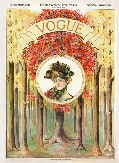 Vogue Cover 1904-12-08 Copyright | Vogue Magazine Graphic Art Covers 1902-1958