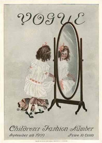 Vogue Cover 1909-09-11 Copyright | Vogue Magazine Graphic Art Covers 1902-1958