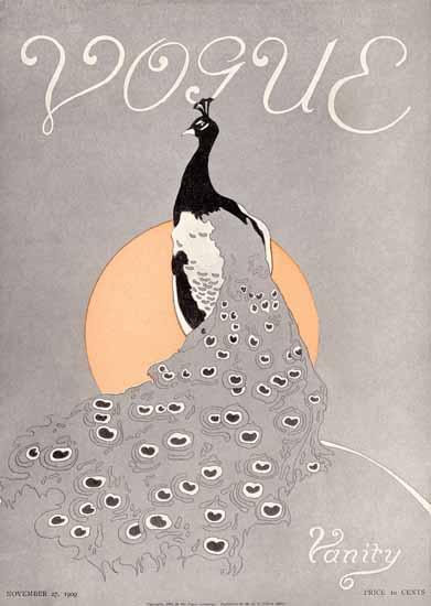 Vogue Cover 1909-11-27 Copyright | Vogue Magazine Graphic Art Covers 1902-1958