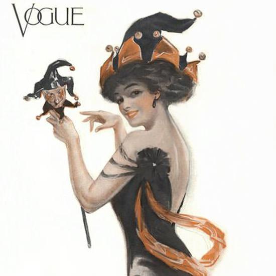 Vogue Cover 1910-02-12 Copyright crop | Best of Vintage Cover Art 1900-1970