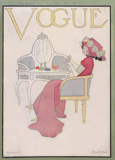 Vogue Cover 1910-11-15 Copyright | Vogue Magazine Graphic Art Covers 1902-1958