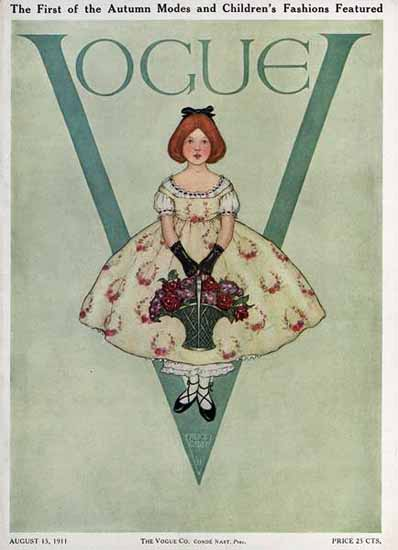 Vogue Cover 1911-08-15 Copyright   Vogue Magazine Graphic Art Covers 1902-1958