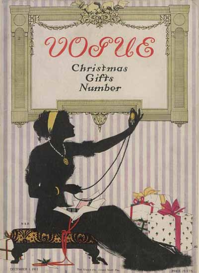 Vogue Cover 1911-12-01 Copyright | Vogue Magazine Graphic Art Covers 1902-1958