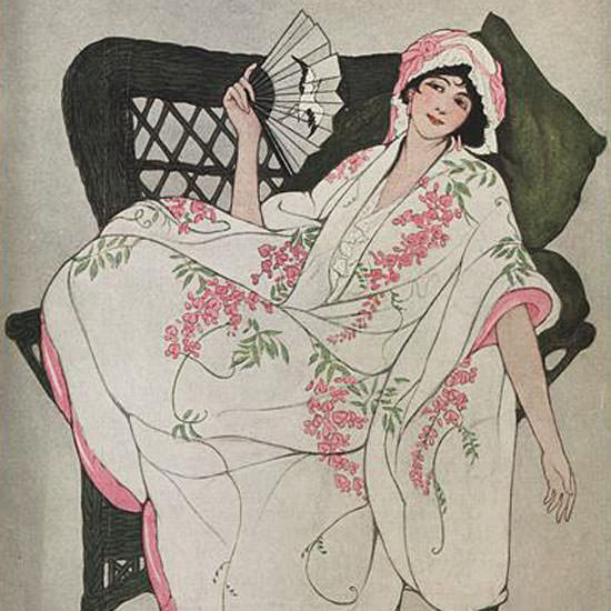 Vogue Cover 1912-07-01 Copyright crop | Best of Vintage Cover Art 1900-1970