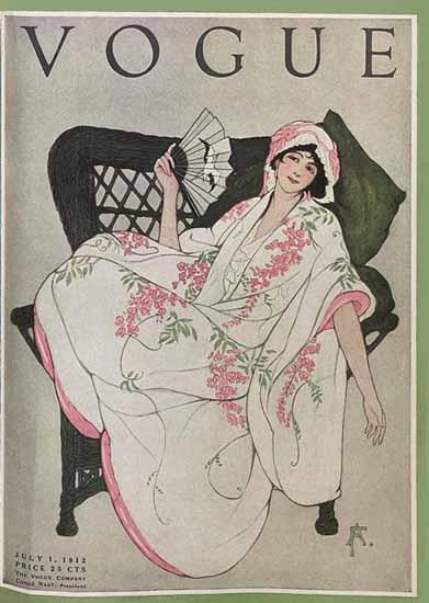 Vogue Cover 1912-07-01 Copyright | Vogue Magazine Graphic Art Covers 1902-1958