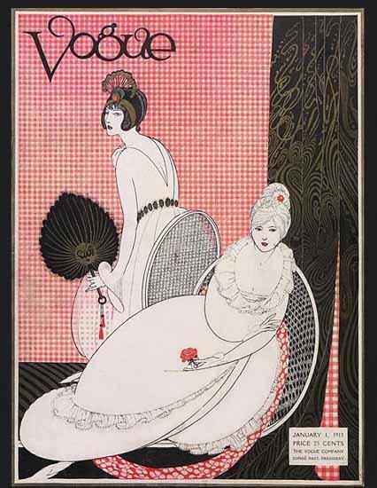 Vogue Cover 1913-01-01 Copyright | Vogue Magazine Graphic Art Covers 1902-1958