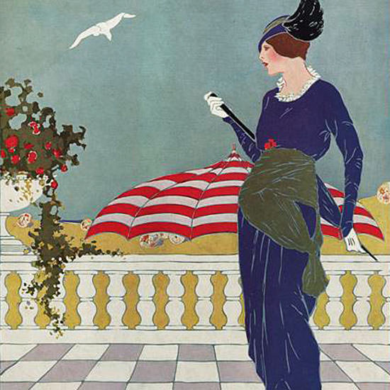 Vogue Cover 1913-08-01 Copyright crop | Best of Vintage Cover Art 1900-1970