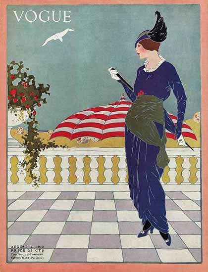 Vogue Cover 1913-08-01 Copyright | Vogue Magazine Graphic Art Covers 1902-1958