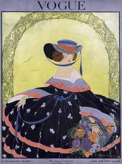Vogue Cover 1916-06-15 Copyright | Vogue Magazine Graphic Art Covers 1902-1958