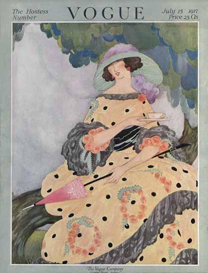 Vogue Cover 1917-07-15 Copyright | Vogue Magazine Graphic Art Covers 1902-1958