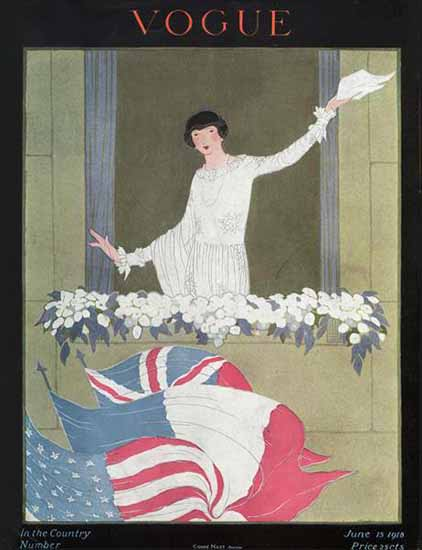 Vogue Cover 1918-06-15 Copyright | Vogue Magazine Graphic Art Covers 1902-1958