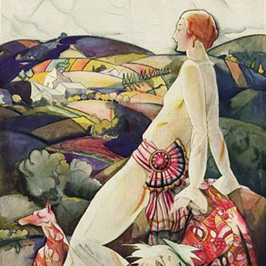 Vogue Cover 1923-07-15 Copyright crop | Best of 1920s Ad and Cover Art