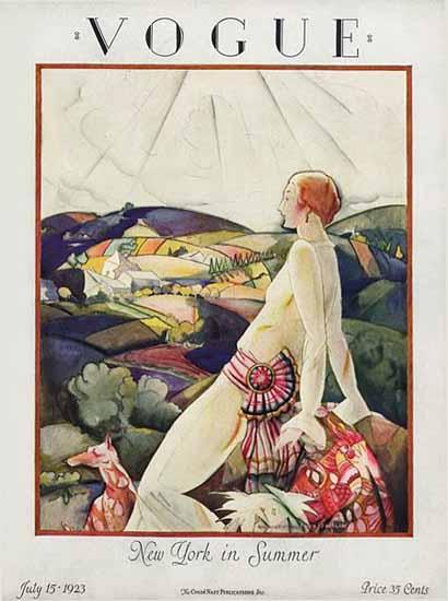Vogue Cover 1923-07-15 Copyright | Vogue Magazine Graphic Art Covers 1902-1958