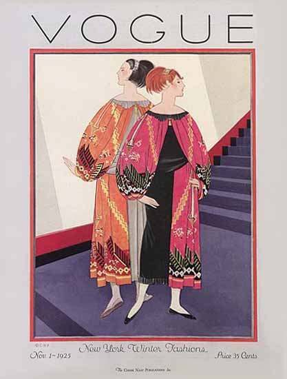 Vogue Cover 1925-11-01 Copyright   Vogue Magazine Graphic Art Covers 1902-1958
