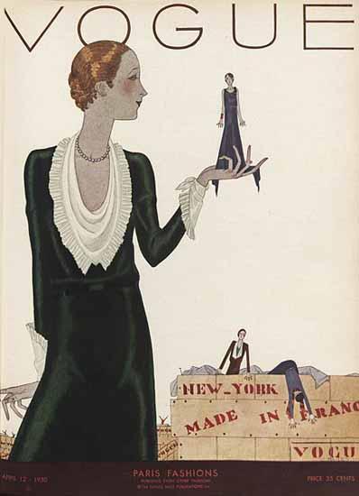 Vogue Cover 1930-04-12 Copyright | Vogue Magazine Graphic Art Covers 1902-1958