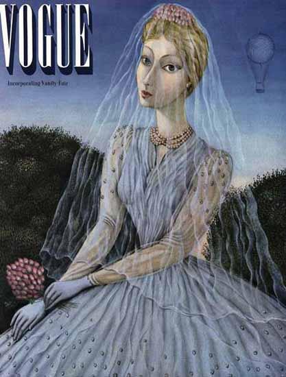 Vogue Cover 1940-04-01 Copyright | Vogue Magazine Graphic Art Covers 1902-1958