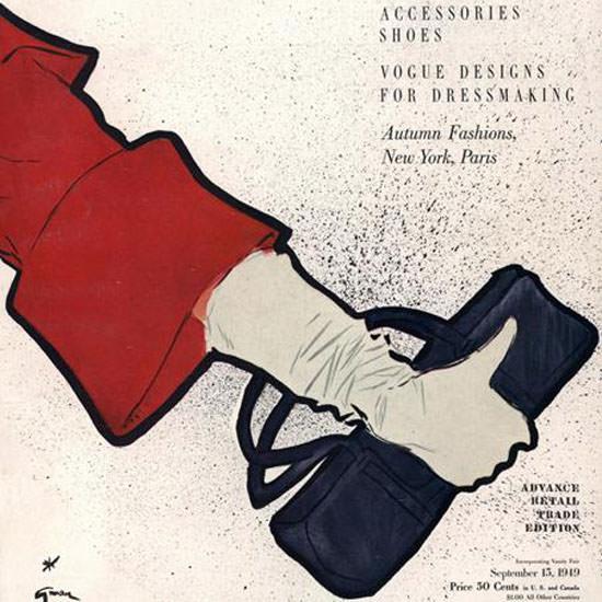 Vogue Cover 1949-09-15 Copyright crop | Best of Vintage Cover Art 1900-1970